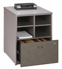"Bush Series A - 24"" Storage Unit  Pewter Collection - Bush Office Furniture - WC14523"