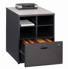 "Bush Series A - 24"" Storage Unit  Slate Collection - Bush Office Furniture - WC84823"