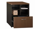 "Bush Series A - 24"" Storage Unit  Walnut Collection - Bush Office Furniture - WC25523"