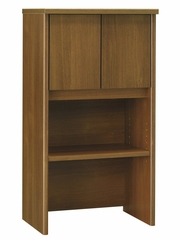 "Bush Series C - 24"" Storage Hutch  Warm Oak Collection - Bush Office Furniture - WC67506"