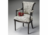 Butler Accent Chair In Black Licorice Finish
