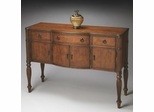 Butler Antique Cherry Bowed Front Master Console Chest