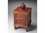 Butler Artifacts Handpainted Tones of Red Accent Chest