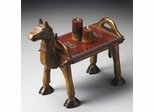 Butler Artifacts Traditional Painted Horse Accent Table