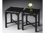 Butler Black Licorice Chippendale Antique Inspired Bunching Table