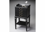 Butler Black Licorice Silver Chest with Felt-Lined Drawers