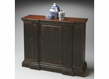 Butler Burnt Eggplant Aged Antique Pier Columns Door Chest