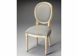 Butler Cappuccino Blue/Brown Stripe Side Chair