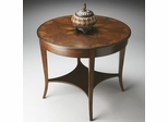 Butler Castlewood Olive Ash Burl Inlays Foyer Table
