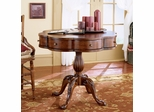 Butler Cherry Clover Wooden Pedestal End Table