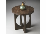 Butler Cocoa Finish Geometric Accent Table