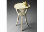 Butler Cottage White Round 3 Legged Accent Table