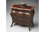 Butler Crackled Crimson Bombe Chest
