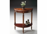Butler Demilune Console Table Cherry & Red Paint