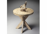 "Butler Driftwood Double ""X"" Legged Accent Table"
