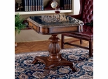 Butler Estate Fossil Stone-Top Pedestal Game Table