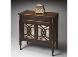 Butler Heritage Console Cabinet with Silver-leaf Treatments on Door
