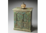 Butler Heritage Hand-Painted Mottled Green Storage Cabinet
