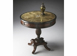 Butler Heritage Snakeskin Fossil-stone Sunburst Inlay Foyer Table