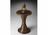 Butler Heritage Spindle Pedestal with Star Inlay Accent Table