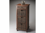 Butler Loft Abaca Rope Tall Chest with Pull-out Storage Baskets