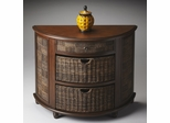 Butler Loft Demilune Chest with Abaca Rope Storage Baskets