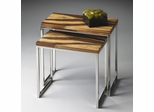 Butler Loft Okoume and Metal Nesting Tables