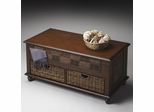Butler Loft Trunk Cocktail Table with Two Pull-out Baskets