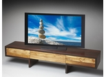 Butler Loft Two-tone Low Profile Modern Entertainment Center