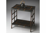 Butler Metalworks Black Fossil Stone Accent Table