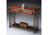 Butler Metalworks Console Table in Cherry Wood
