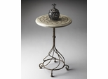 Butler Metalworks Insignia with Swirl Pedestal Accent Table