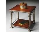 Butler Metalworks Modern Distressed Cherry End Table