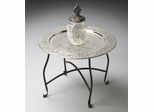 Butler Metalworks Moroccan Aluminum Serving Tray Table