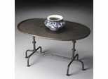 Butler Metalworks Oval Metal Cocktail Table