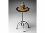 Butler Metalworks Penn Shell Inlay Top Octagonal Accent Table