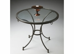Butler Metalworks Pewter and Tempered Glass Foyer Table