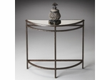 Butler Metalworks Textured Metal Design Demilune Console Table