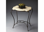 Butler Metalworks White Fossil Stone Accent Table