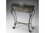 Butler Metalworks Wrought Iron Black Fossil Console Table