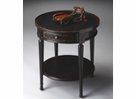 Butler Midnight Rose with Aged Distressed Finish Accent Table