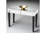 Butler Mirror Chic Console Table with Contrasting Dark Tapered Legs
