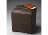Butler Modern Expressions Bunching Ottoman Button-tufted Leather