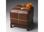 Butler Modern Expressions Button-Tufted Leather Bunching Ottoman
