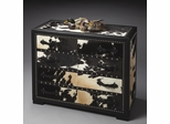Butler Modern Expressions Genuine Cowhide and Black Leatherette Chest