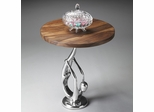 Butler Modern Expressions Polished Gymnast Pedestal Accent Table