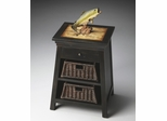 Butler Mountain Lodge Chairside Table with Pull-out Wicker Baskets
