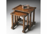 Butler Mountain Lodge Rugged Whiskey Brown Nesting Tables