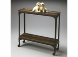 Butler Mountain Lodge Rustic Iron and Solid Acacia Console Table