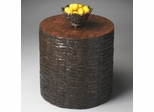 Butler Mountain Lodge Tree Trunk Cylinder Drum Table